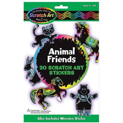 Melissa & Doug Animal Friends Scratch Art Stickers (3371)