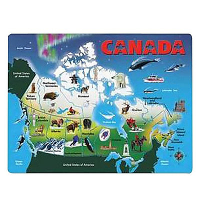 Melissa & Doug LCI129 Canada Map Wooden Puzzle English
