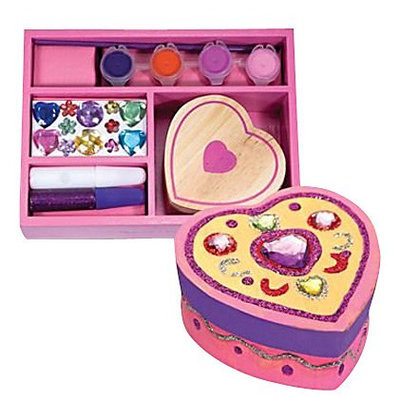 Melissa & Doug Wooden Heart Chest - Decorate-Your-Own