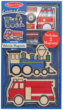 White Mountain Puzzles Melissa and Doug 4795 Wooden Vehicles Magnets