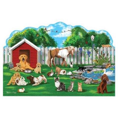 Melissa & Doug Pet Party Shaped 32-pc. Floor Puzzle (Cardboard)