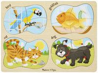 Melissa & Doug 4 in 1 Peg Puzzle - Pets