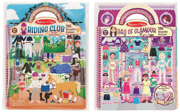 Melissa & Doug Puffy Sticker Album Glamour & Horse Scenes