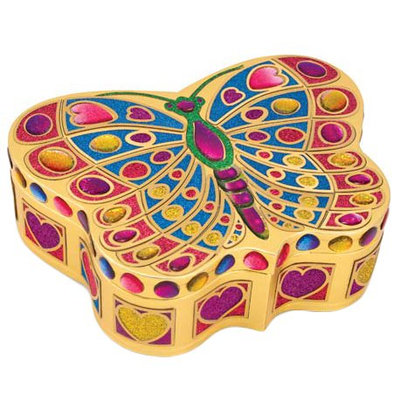 Melissa & Doug Peel & Press Sticker by Number Butterfly Treasure Box