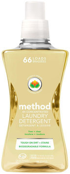 method laundry detergent 66 loads free + clear