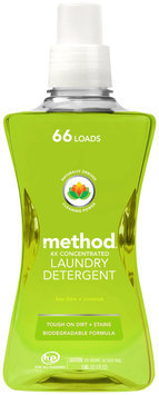 Method Home Care Method Fresh Clover 4x Concentrated Laundry Detergent