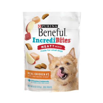 Beneful Dog Treats Incredibites Meaty Minis With Real Chicken Apples And Beef