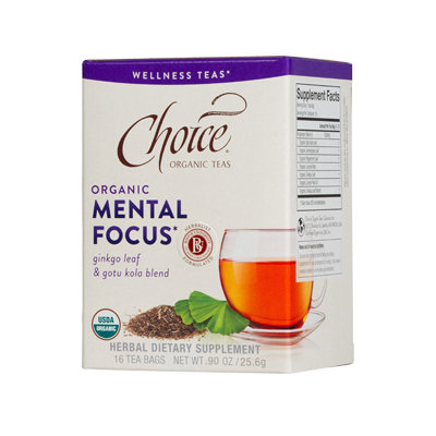 Choice Organic Teas Mental Focus Wellness Tea