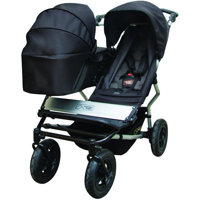 Mountain Buggy Duet Double Pushchair Carrycot Black
