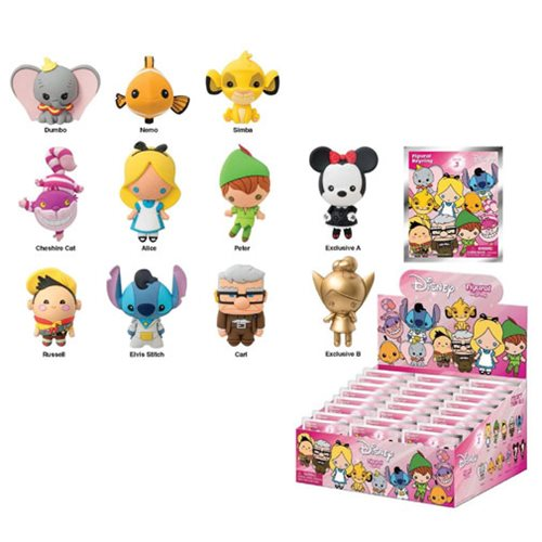 Disney 3-D Series 3 Figural Foam Key Chain 6-Pack