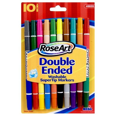 Rose Art Double Ended Washable Super Tip Markers