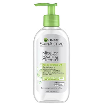 Garnier SkinActive Micellar Foaming Cleanser for Combination to Oily Skin