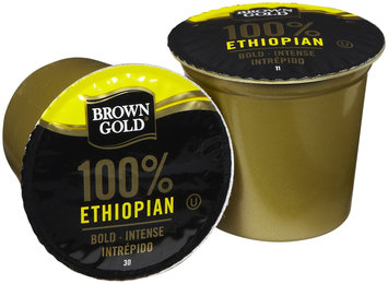 Brown Gold Coffee K-Cups, Ethiopian, 48 ct