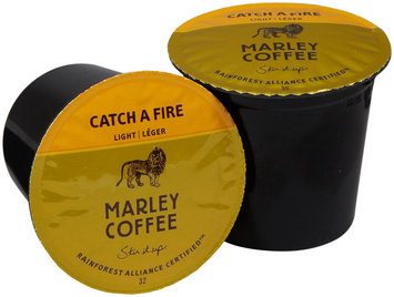 Marley Coffee Single Serve Realcup For Keurig K-Cup Brewers - Catch A Fire - 24 ct