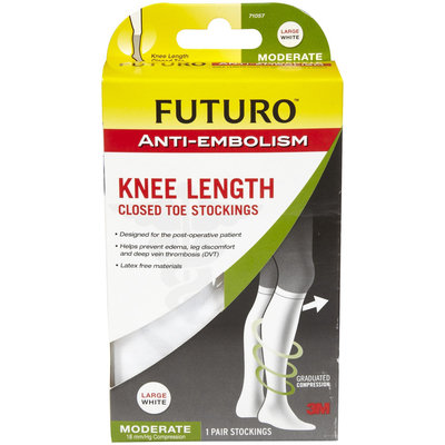 Futuro Anti-Embolism Stockings, Knee Length, Closed Toe-XL