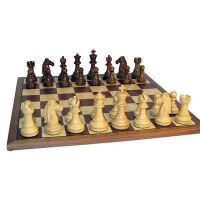 World Wise Imports Sheesham Double Weighted Mustang Chess Set