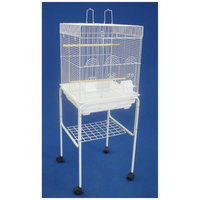 Yml Flat Top Small Bird Cage Color: White