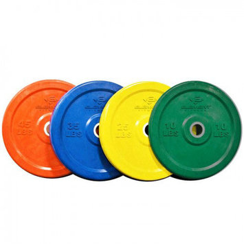 Unified Fitness Group Commercial Colored Bumper Plates Weight: 45 lbs