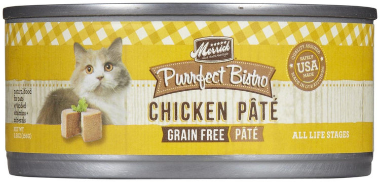 Merrick Pet Care Merrick Purrfect Bistro Chicken 5.5 oz Canned 24 Pack