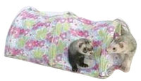Marshall Pet Products Marshall Pet Double Fun Ferret Tunnel Assorted Colors And Prints
