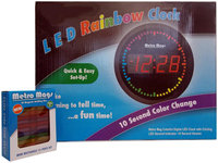 Metro Mags Metro Mag Colorful Digital LED Clock with Circling LED - Red - 1 ct.