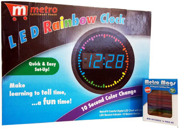 Metro Mags Colorful Digital LED Clock with Circling LED - Blue - 1 ct.