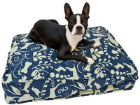Molly Mutt Perfect Afternoon Dog Duvet - Blue & Green Silhouette