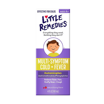 LITTLE REMEDIES® MULTI-SYMTOM COLD PLUS FEVER NATURAL BERRY FLAVOR