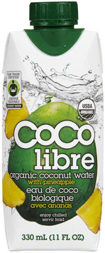 CoCo Libre Pineapple Coconut Water, 11 oz, 12 ct