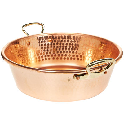 Mauviel Cookware M'Passion Copper Jam Pan with Bronze Handles