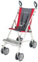 Maclaren Major Elite Pushchair, Charcoal and Scarlet