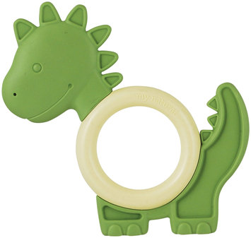 MiYim My Natural Tactile Teether - Green Dino