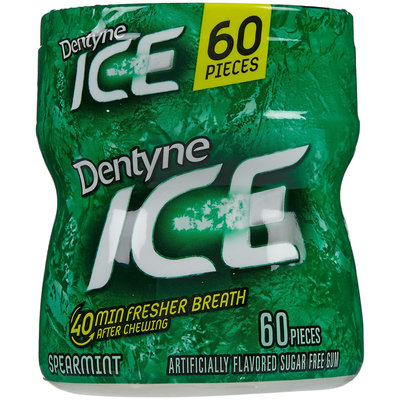 Dentyne Sugarless Gum, Bottle - Spearmint - 60 ct