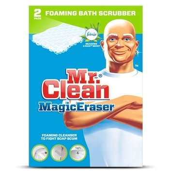 Mr. Clean Magic Eraser Foaming Bath Scrubber with Febreze Meadows and Rain