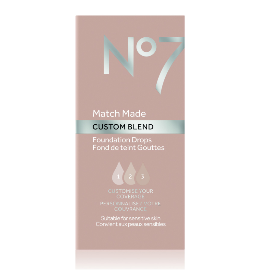 No7 Match Made CUSTOM BLEND Foundation Drops Light Shades