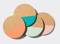 Mako™ Cork Coasters Set