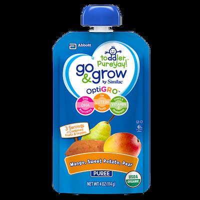 Go & Grow By Similac® Mango, Sweet Potato & Pear Puree Toddler Food Pouches With OptiGRO™