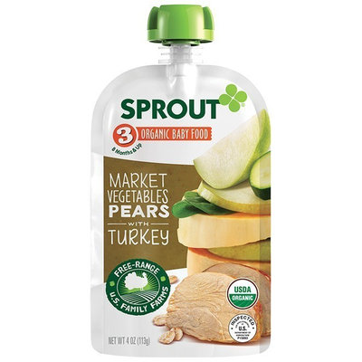 Sprout Market Vegetables Pear with Turkey Organic Baby Food
