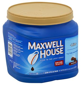 Maxwell House Ground Lite Roast Coffee