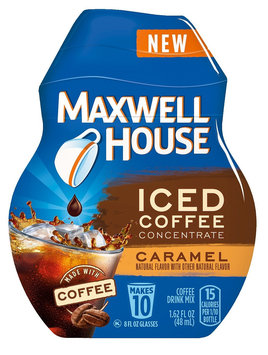 Maxwell House Iced Coffee Concentrate Caramel Beverage Mix