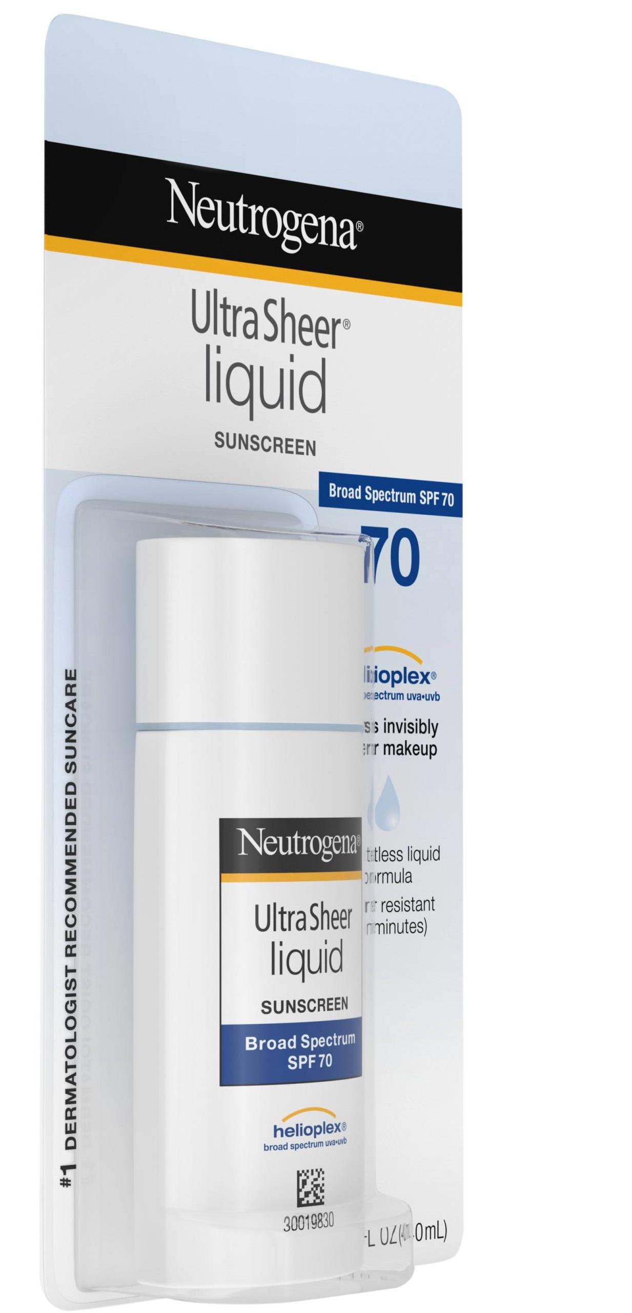 Neutrogena® Ultra Sheer Liquid Daily Sunscreen Broad Spectrum - SPF 70