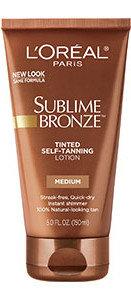 L'Oréal Paris Sublime Bronze™ Tinted Self-Tanning Lotion Medium Natural Tan