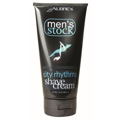 Aubrey Organics Men's Stock City Rhythms Shave Cream