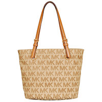 Michael Kors Jet Set Item Beige/ Ebony/ Luggage Tote Bag