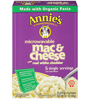 Annie's Homegrown White Cheddar Microwavable Mac & Cheese
