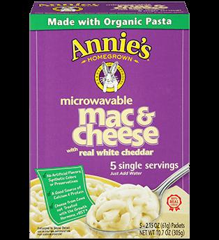 Annie's Homegrown White Cheddar Microwavable Mac & Cheese