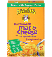 Annie's Homegrown Real Aged Cheddar Microwavable Mac & Cheese