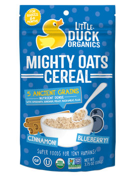 Little Duck Organics Blueberry & Cinnamon Mighty Oats