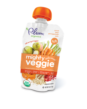 Plum Organics Mighty Veggie® Carrot, Pear, Pomegranate & Oats