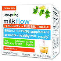 UpSpring Milkflow Fenugreek + Blessed Thistle Drink Mix – Citrus